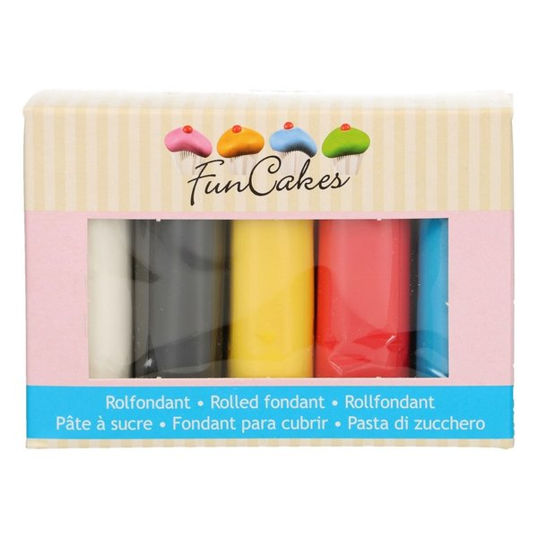 FunCakes Rolfondant Multipack Primary Colours 5x100
