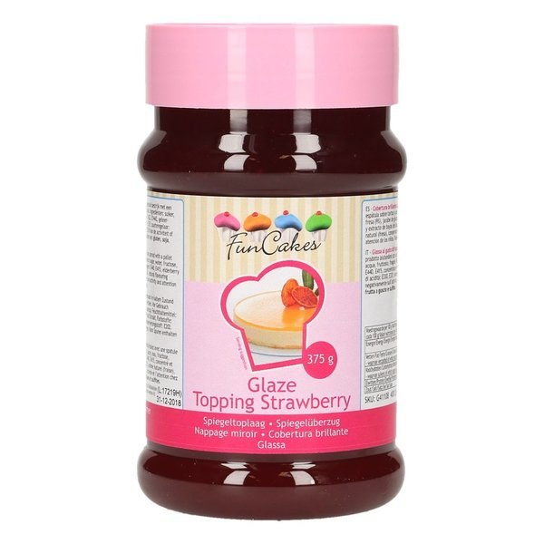 FunCakes Glaze Topping Strawberry -375g -