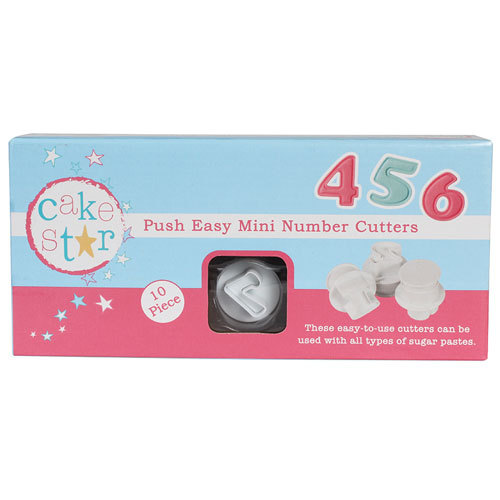 Cake Star Push Easy Uitstekers Mini Cijfers Set/10