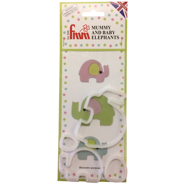 FMM Mummy and Baby Elephant Cutter Set/4