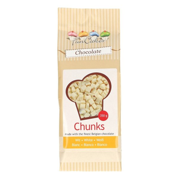 FunCakes Chocolade Chunks Wit -350g-