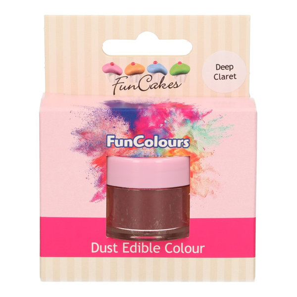 FunCakes Edible FunColours Dust - Deep Claret