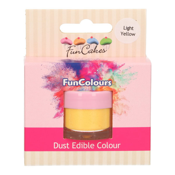 FunCakes Edible FunColours Dust - Light Yellow