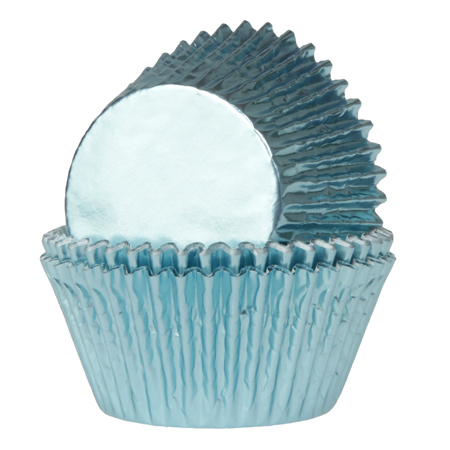 House of Marie Baking Cups Folie Baby Blauw pk/24