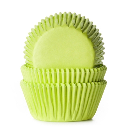 House of Marie Baking cups Lime Groen - pk/50