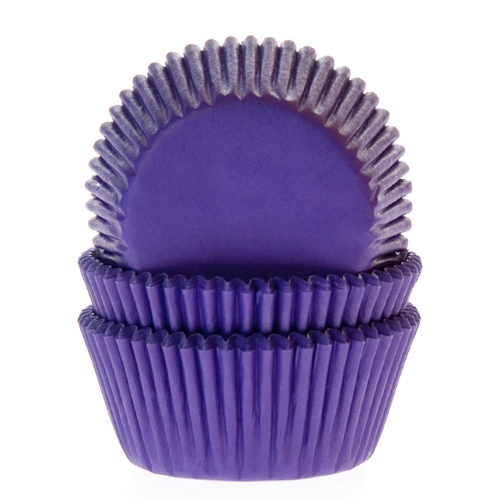 House of Marie Baking Cups Paars/Violet - pk/50