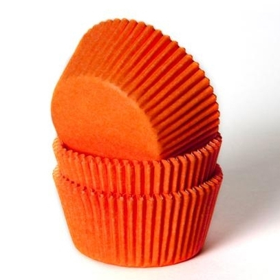 House of Marie Baking cups Oranje - pk/50