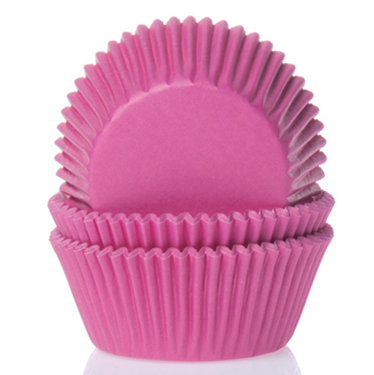 House of Marie Mini Baking Cups Hot Pink pk/60