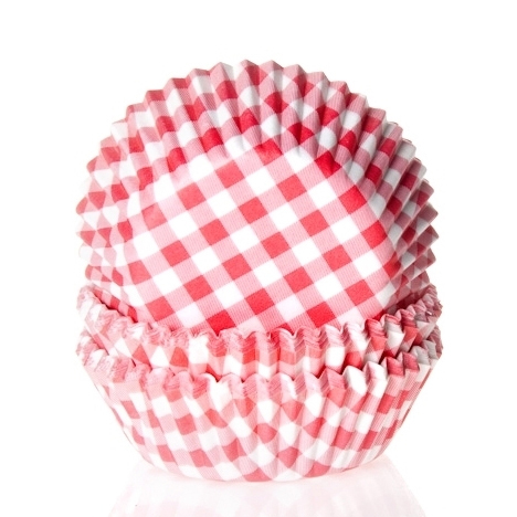 House of Marie Baking cups Ruit Rood - pk/50