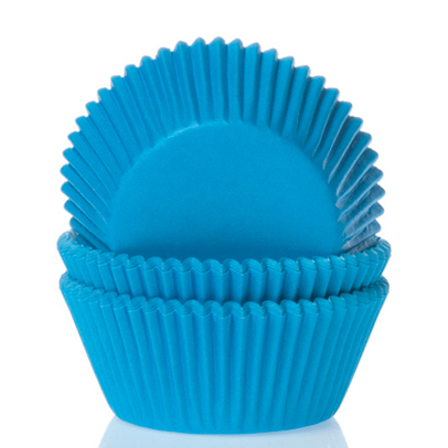 House of Marie Mini Baking Cups Cyaan Blauw pk/60