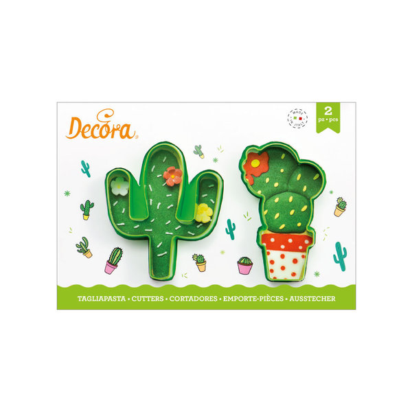 Decora Cactus Cookie Cutters set/2