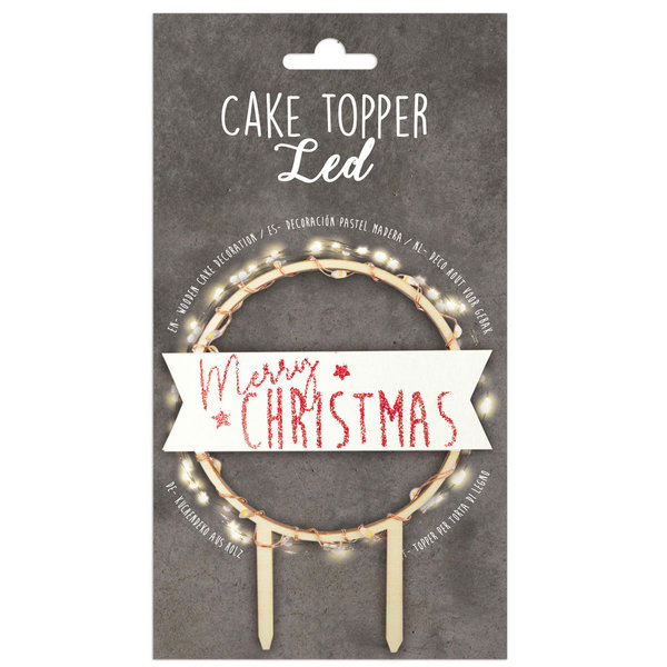 Scrapcooking Taarttopper Led Merry Christmas